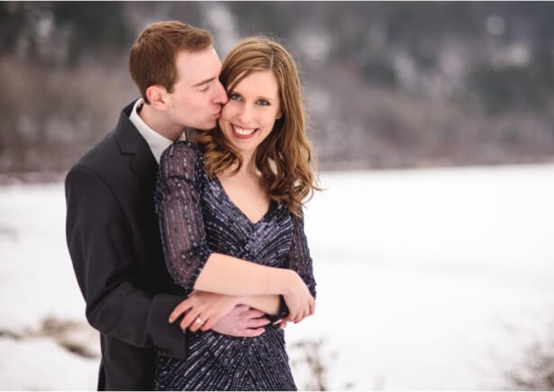Devil's Lake Winter Engagement session
