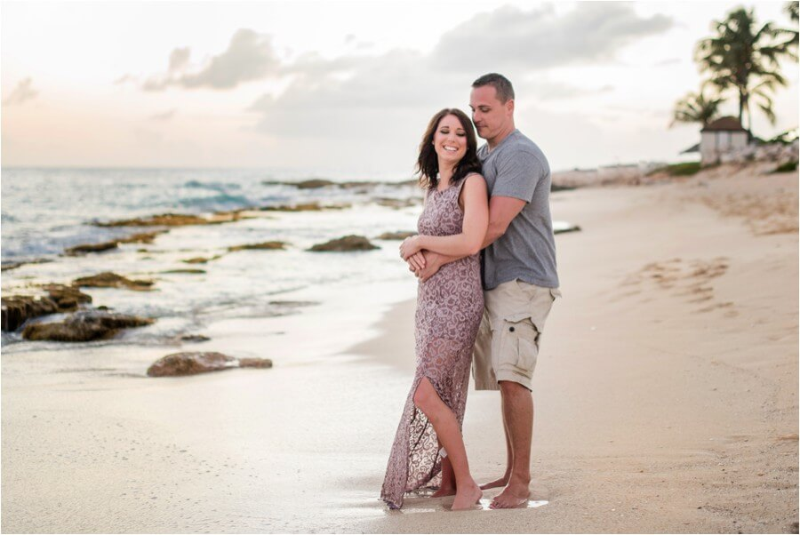 Caribbean sunset engagement_0001