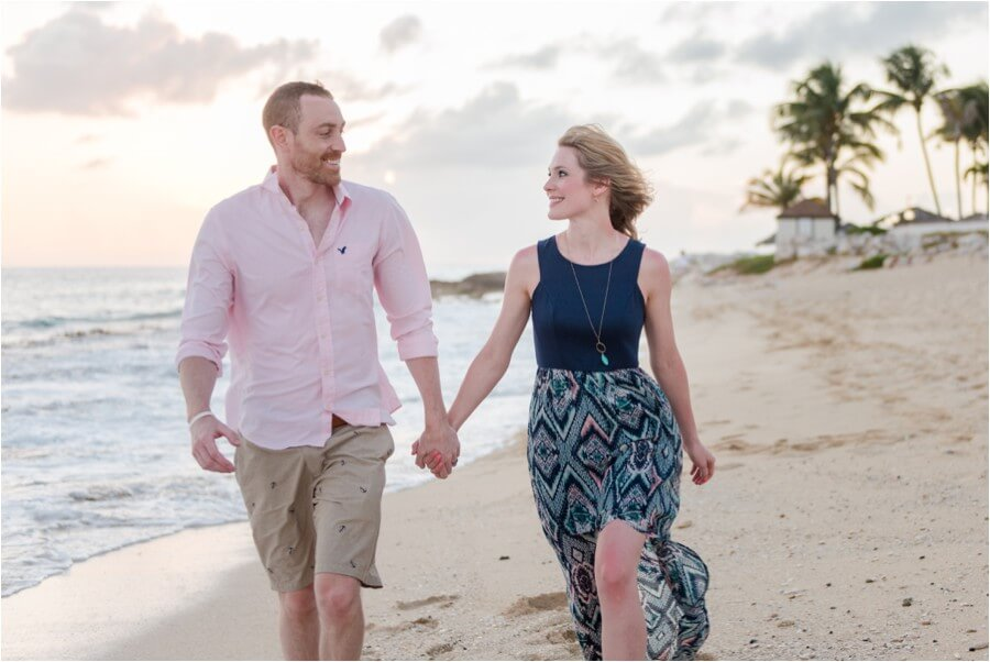 Caribbean sunset engagement_0003