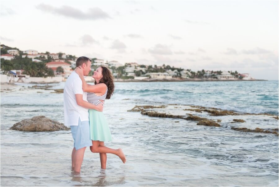 Caribbean sunset engagement_0004
