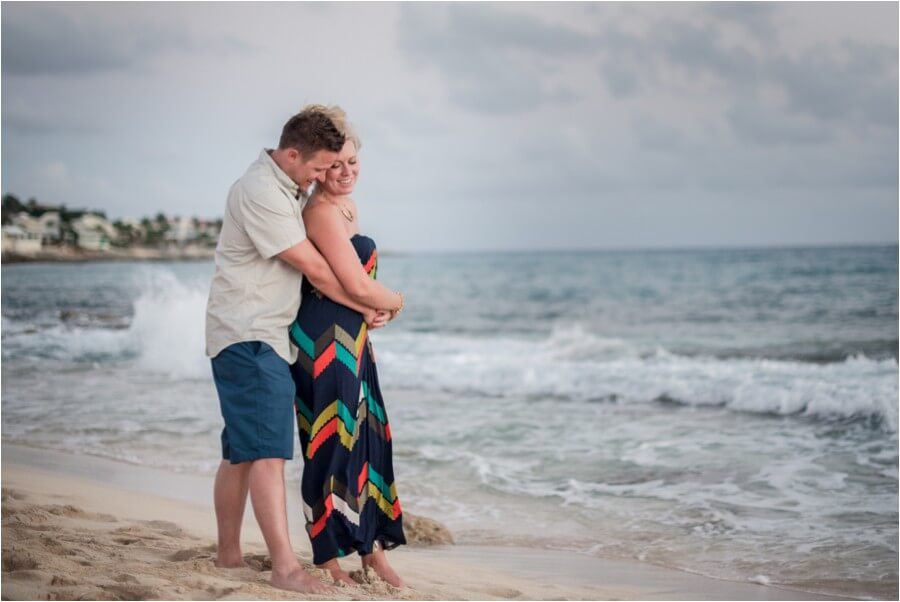 Caribbean sunset engagement_0008