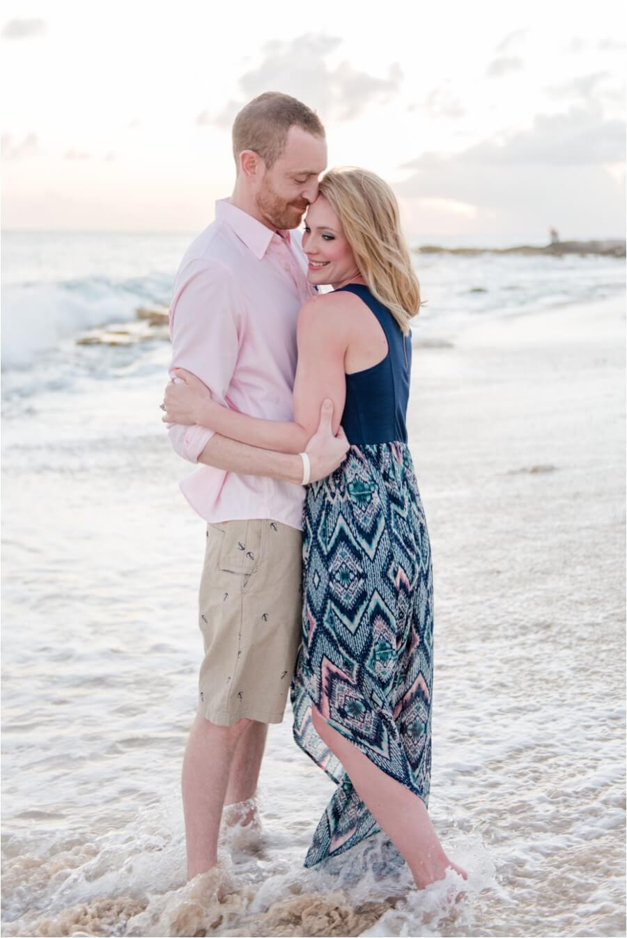 Caribbean sunset engagement_0012