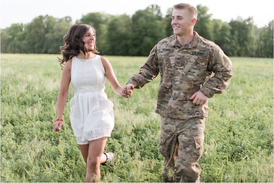 Army-inspired engagement photography