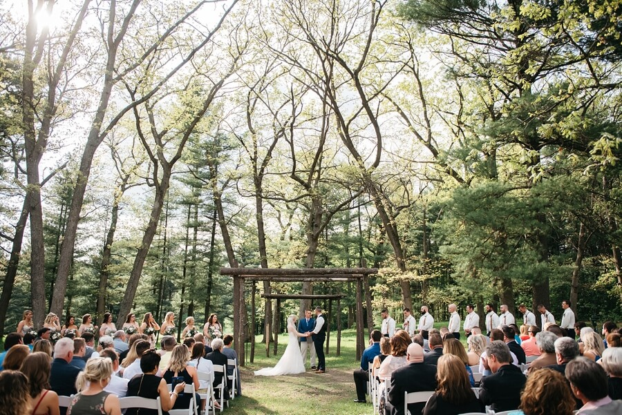 Outdoor wedding ceremony in the spring at Chula Vista Resort